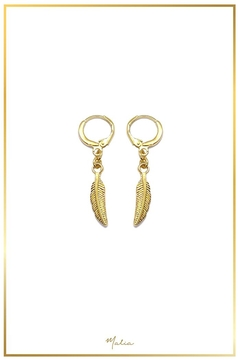 Malia Jewelry Golden Feather Earrings - Product List Image
