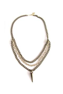 Malia Jewelry Golden Spike Necklace - Product List Image