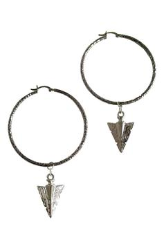 Shoptiques Product: Gray Arrow Hoops