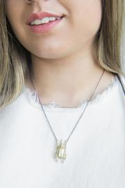 Malia Jewelry Gray Beetle Necklace - Other