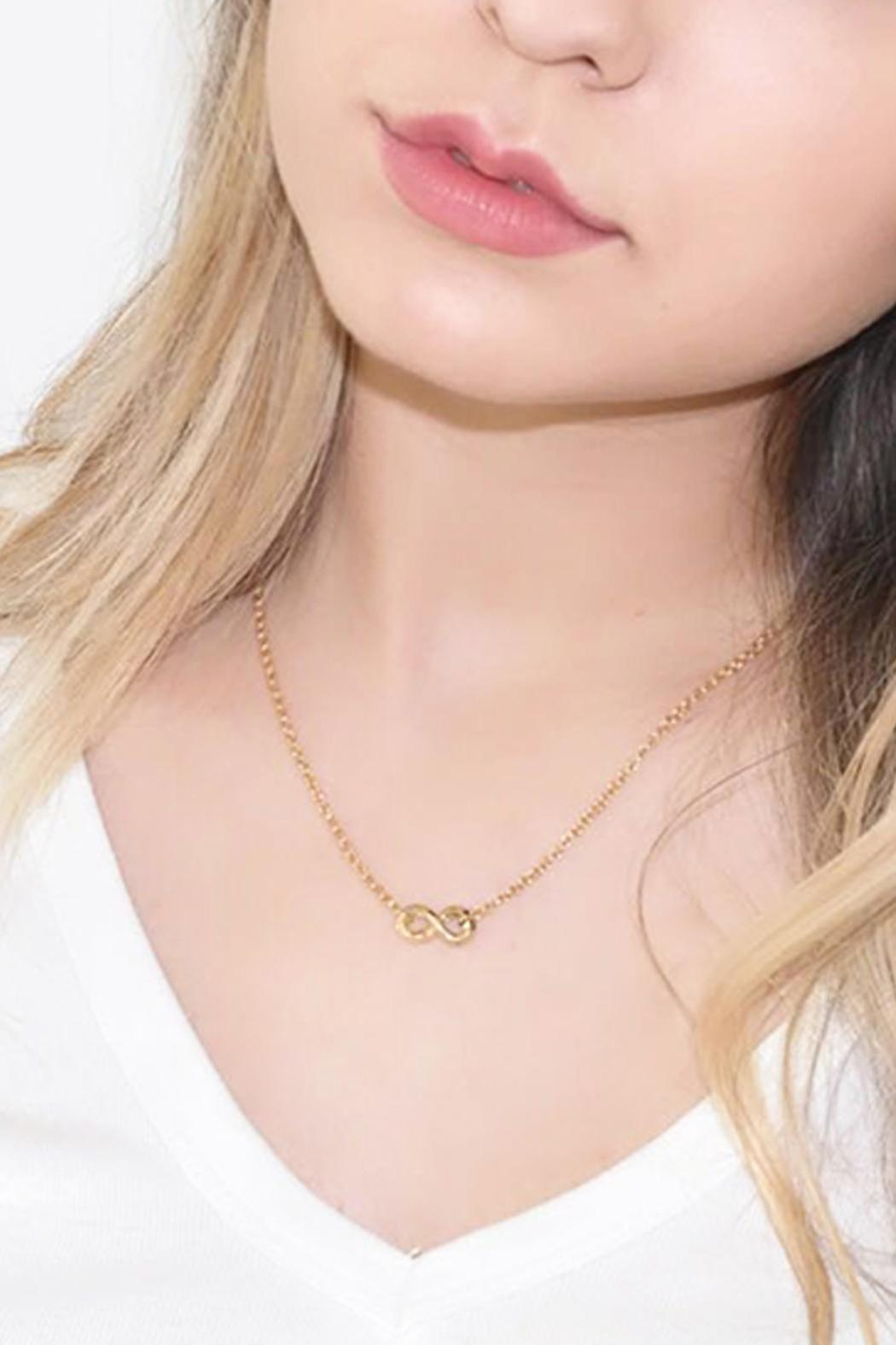 Malia Jewelry Infinite Necklace - Side Cropped Image