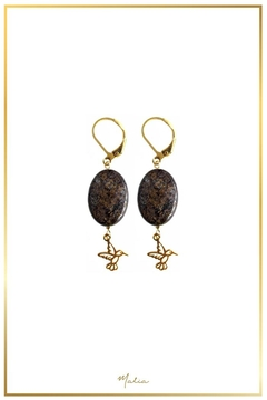 Malia Jewelry Jasper Hummingbird Earrings - Alternate List Image