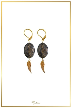 Malia Jewelry Jasper Wing Earrings - Alternate List Image