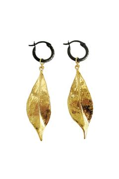 Shoptiques Product: Leaf Black Hoops