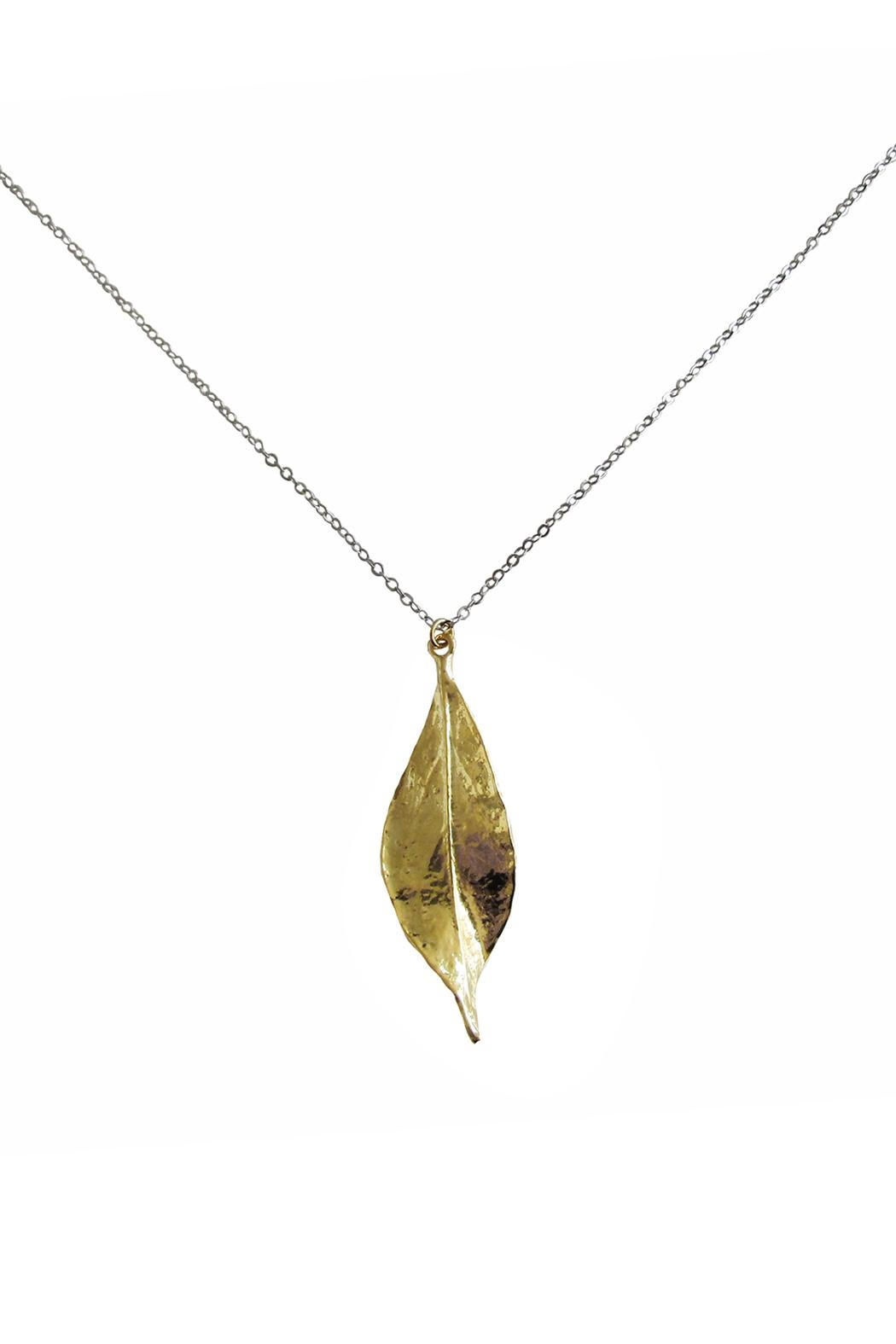 Malia Jewelry Leaf Necklace - Side Cropped Image