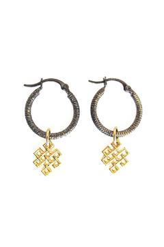 Malia Jewelry Love-Knot Black Hoops - Product List Image