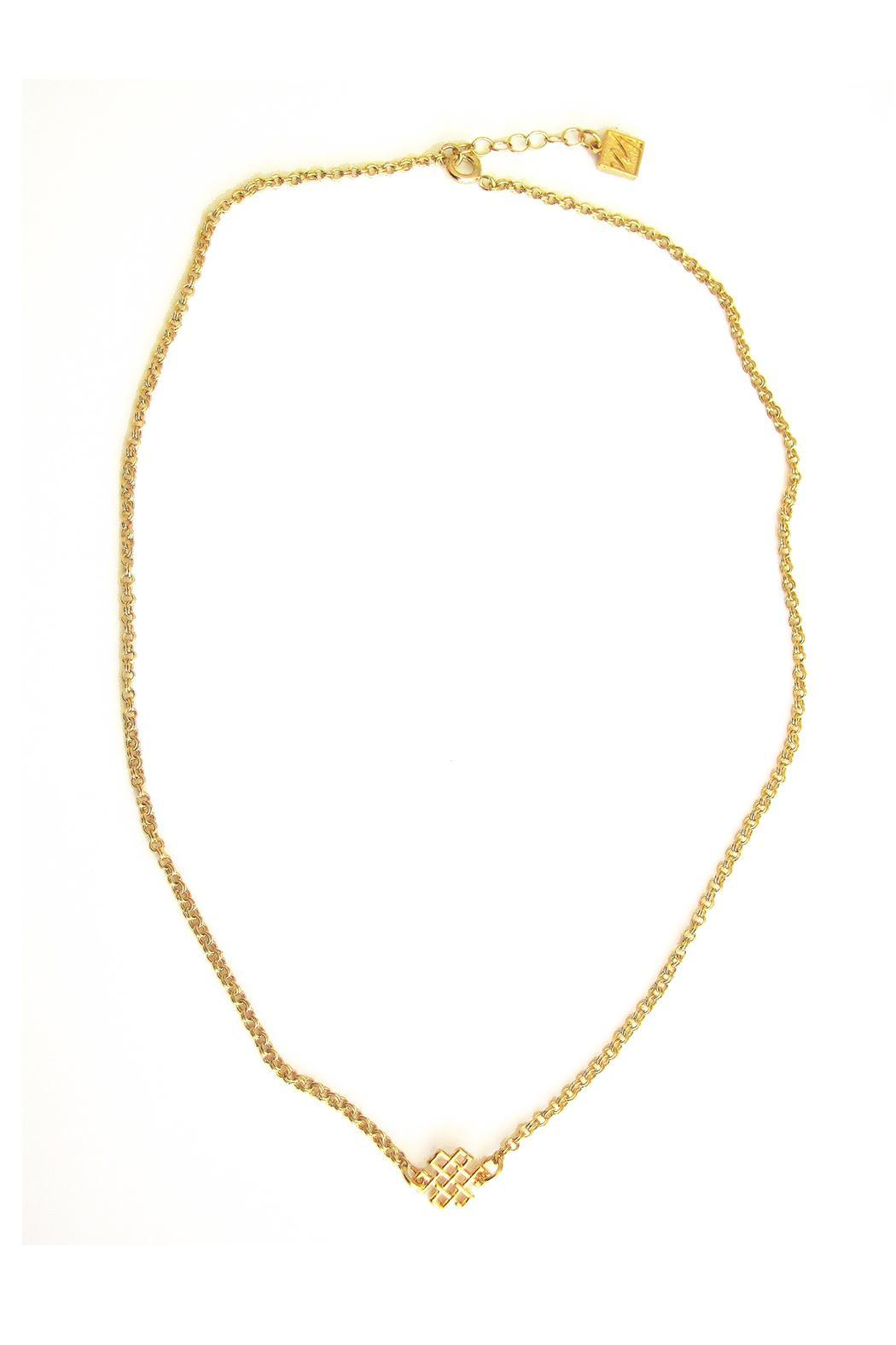 Malia Jewelry Love Knot Necklace - Front Full Image