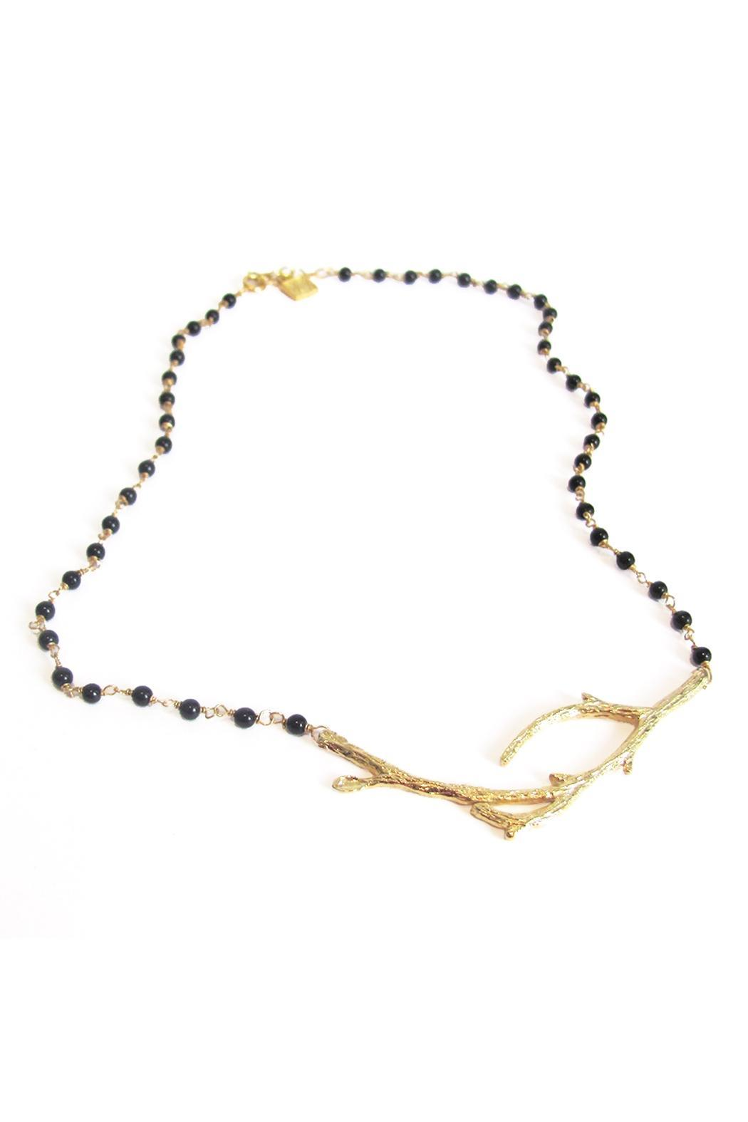 Malia Jewelry Onyx Branch Necklace - Front Full Image