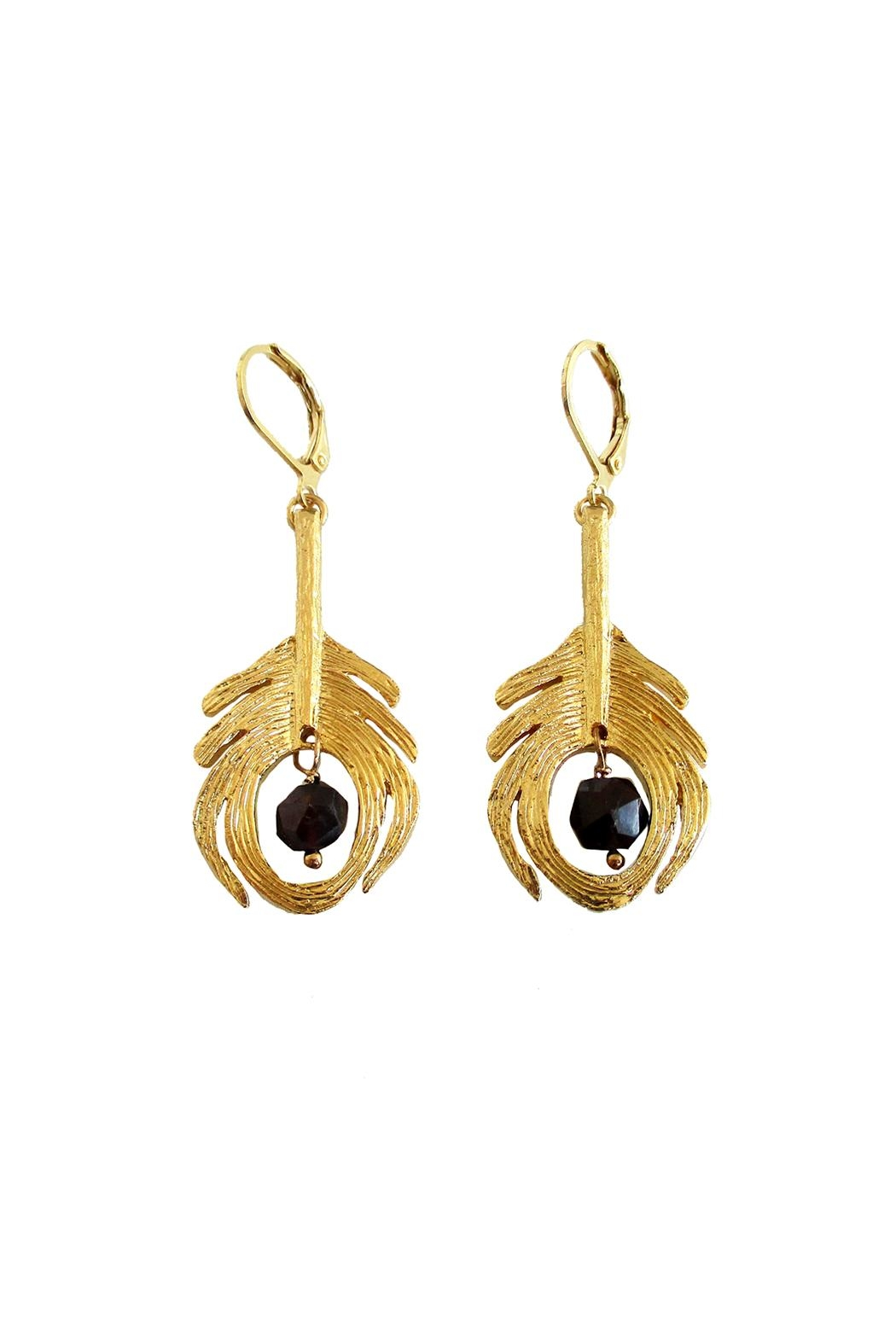 Malia Jewelry Peacock Black Earrings - Front Cropped Image