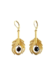 Malia Jewelry Peacock Black Earrings - Front cropped