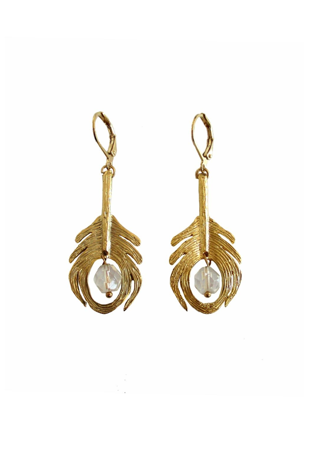 Malia Jewelry Peacock Crystal Earrings - Front Cropped Image