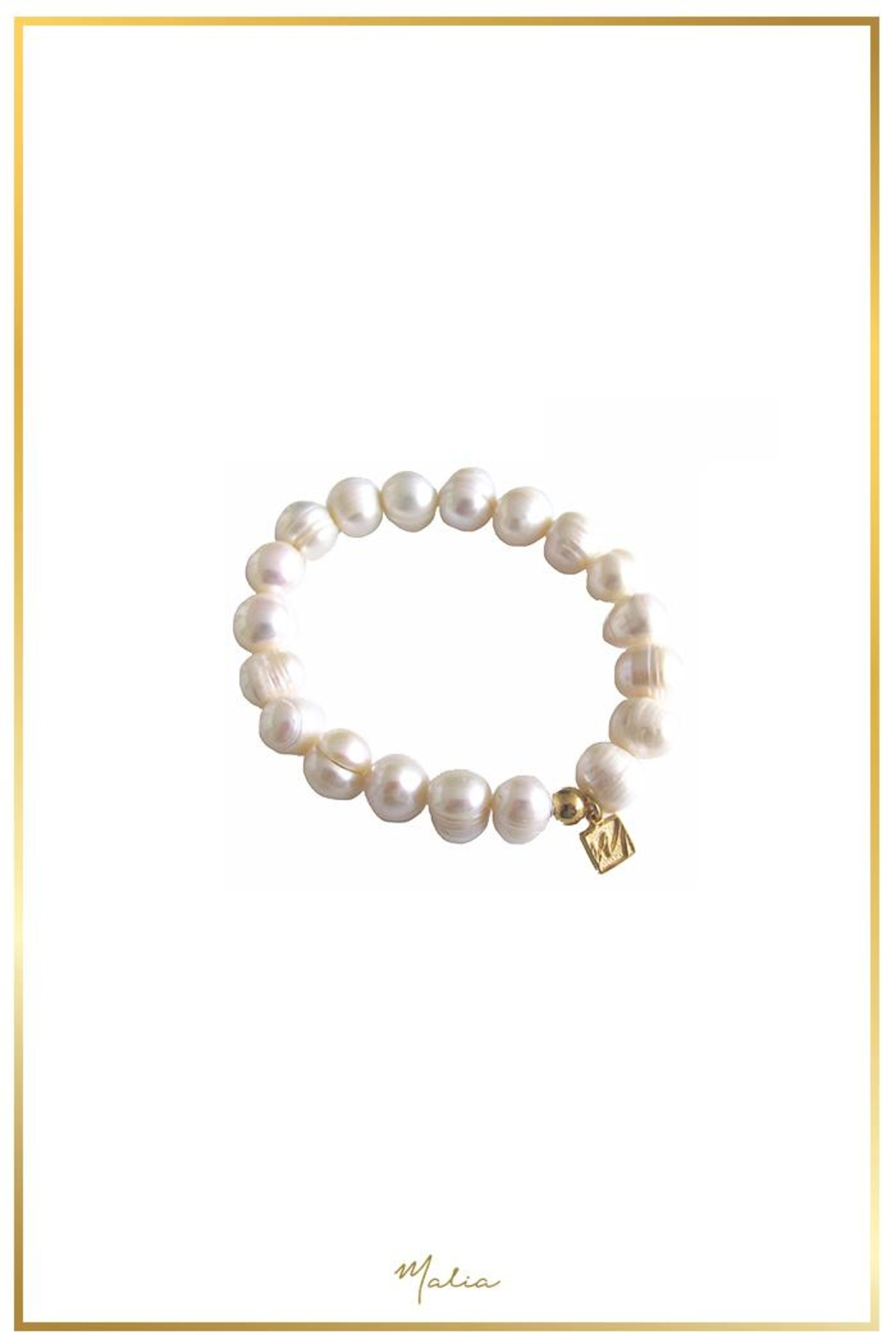 Malia Jewelry Pearl Bracelet - Front Cropped Image