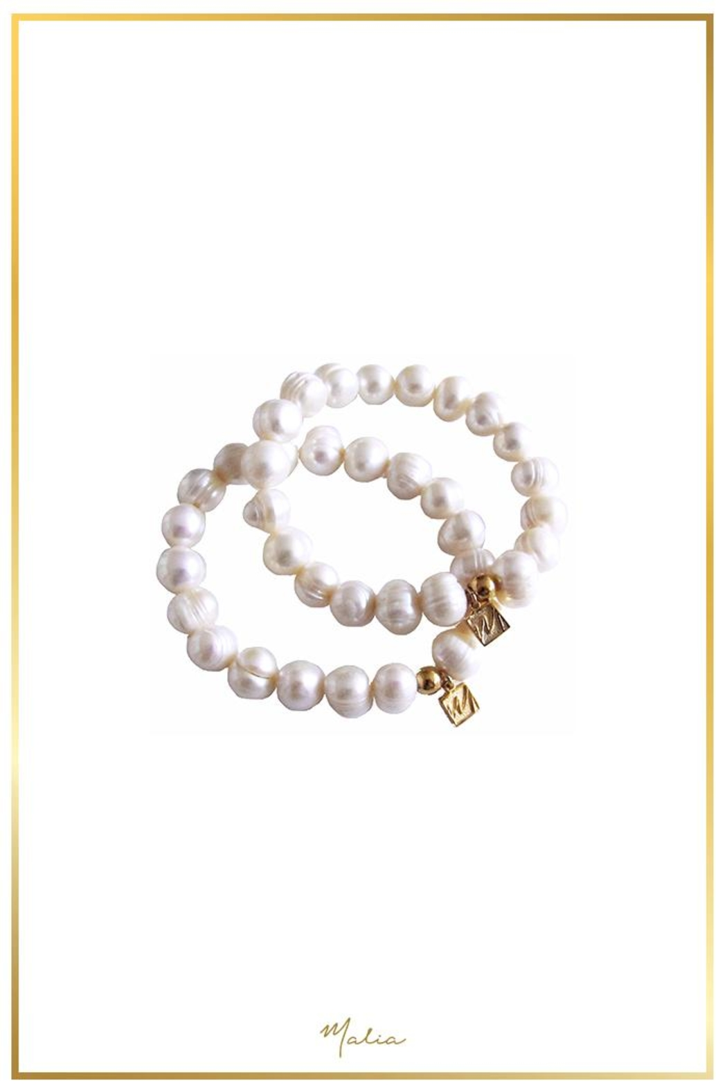 Malia Jewelry Pearl Bracelet - Front Full Image