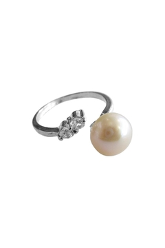 Shoptiques Product: Pearl Zirconia Ring