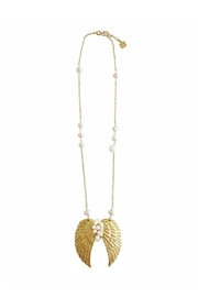 Malia Jewelry Pearls Wings Necklace - Product Mini Image