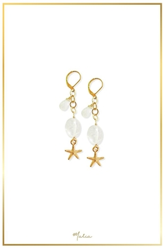 Malia Jewelry Quartz Starfish Earrings - Alternate List Image