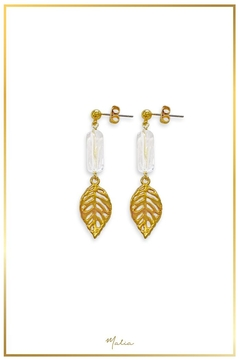 Malia Jewelry Quartz Tropical-Leaf Earrings - Product List Image