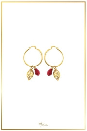 Malia Jewelry Red Tropical Hoops - Product Mini Image
