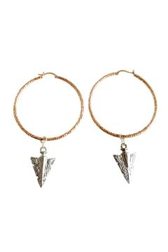 Shoptiques Product: Rose-Gold Arrow Hoops