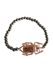 Malia Jewelry Rose-Gold Beetle Bracelet - Product Mini Image