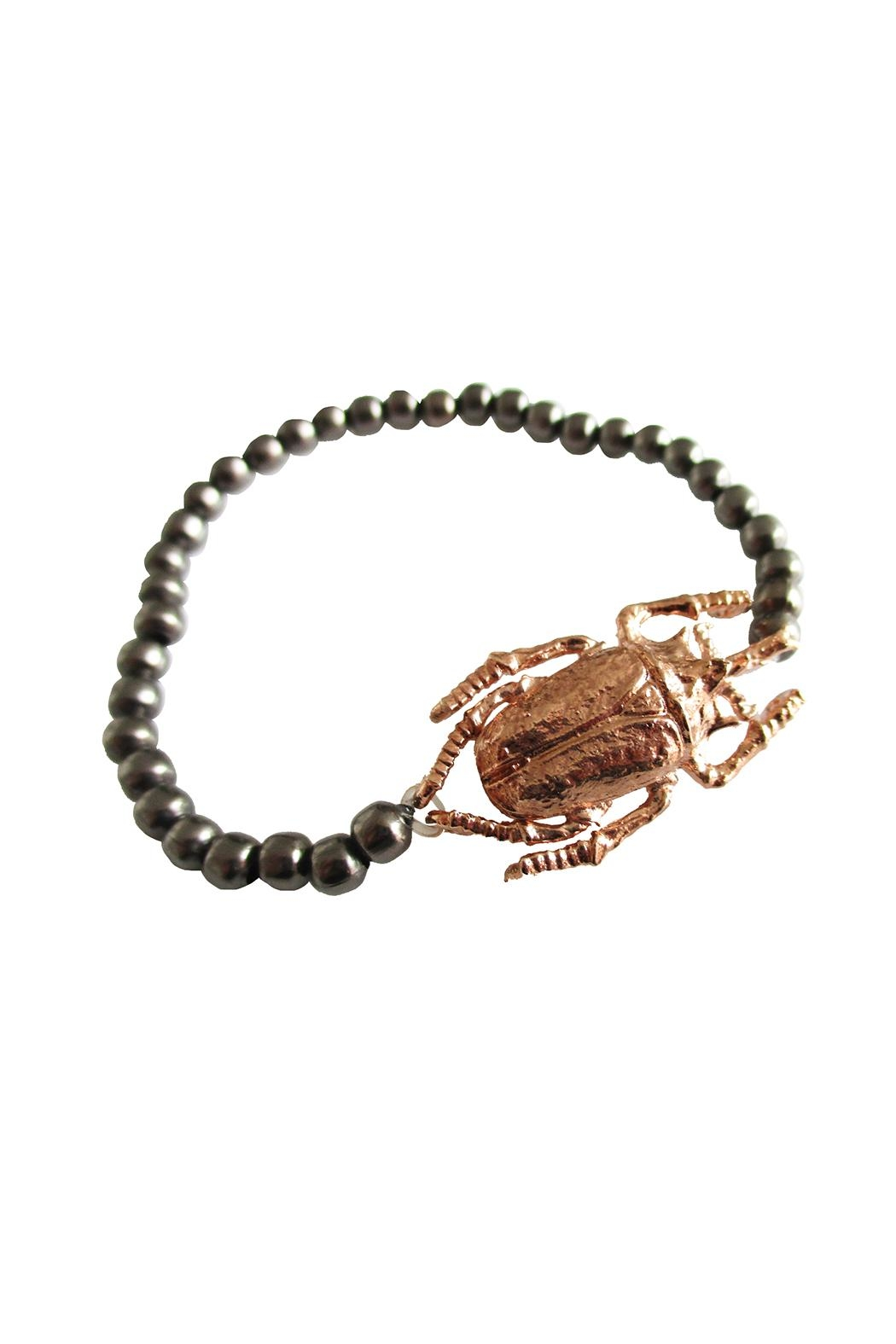 Malia Jewelry Rose-Gold Beetle Bracelet - Front Full Image