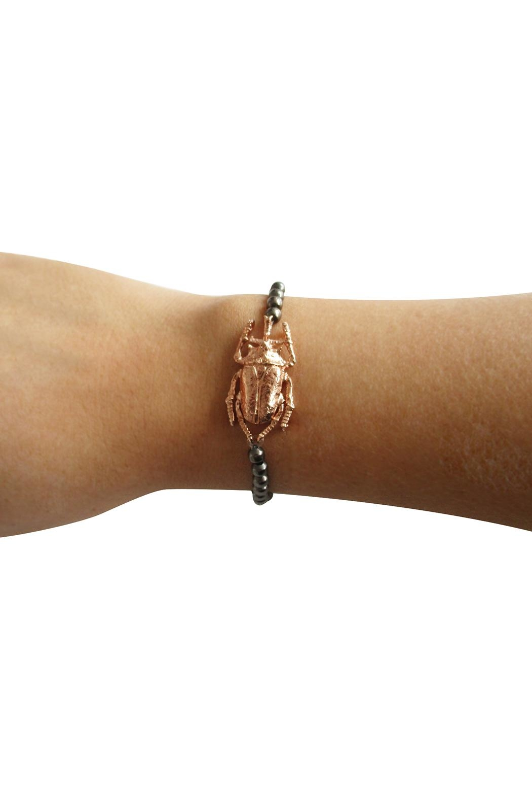 Malia Jewelry Rose-Gold Beetle Bracelet - Side Cropped Image