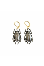 Malia Jewelry Black Beetle Earrings - Product Mini Image