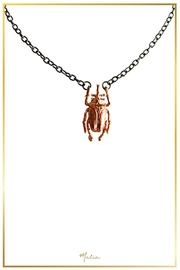 Malia Jewelry Rose Gold Beetle Necklace - Product Mini Image