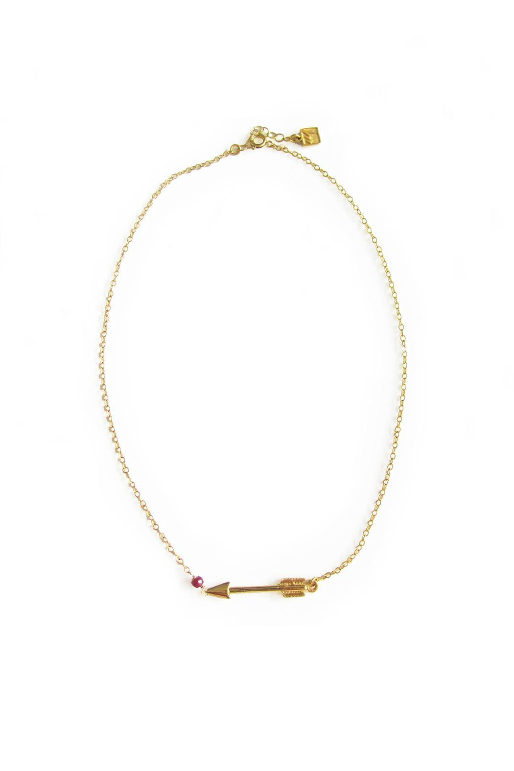 Malia Jewelry Ruby Arrow Necklace - Main Image
