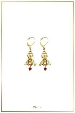 Malia Jewelry Ruby Bee Earrings - Alternate List Image