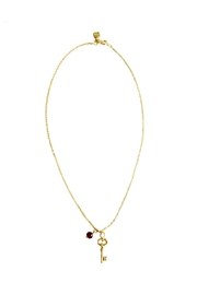 Malia Jewelry Ruby Key Necklace - Product Mini Image