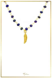 Malia Jewelry Sapphire Leaf Necklace - Front cropped