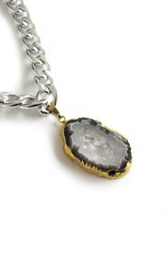 Shoptiques Product: Silver Agate Necklace