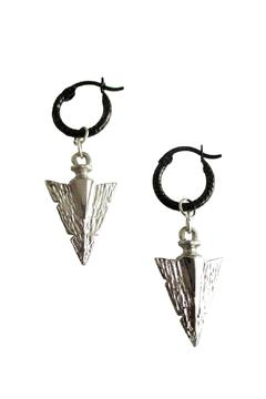 Shoptiques Product: Silver Arrow Hoops