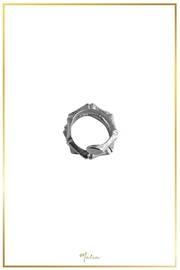 Malia Jewelry Silver Bamboo Ring - Side cropped