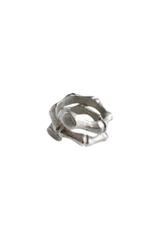 Malia Jewelry Silver Bamboo Ring - Front full body