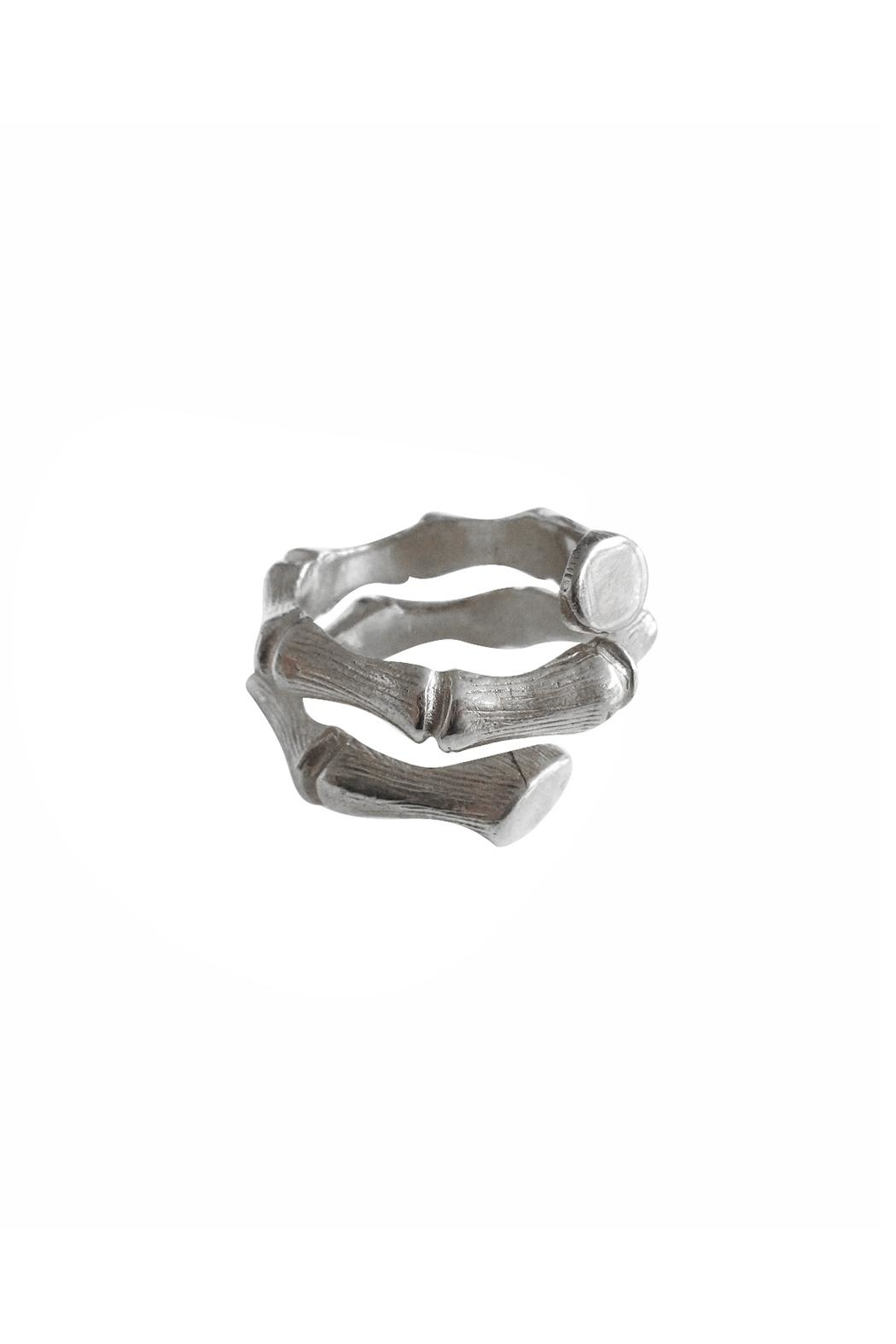 Malia Jewelry Silver Bamboo Ring - Front Cropped Image
