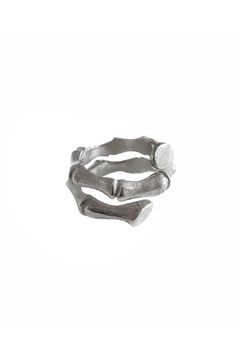 Shoptiques Product: Silver Bamboo Ring