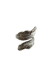 Malia Jewelry Silver Double Leaf Ring - Front full body