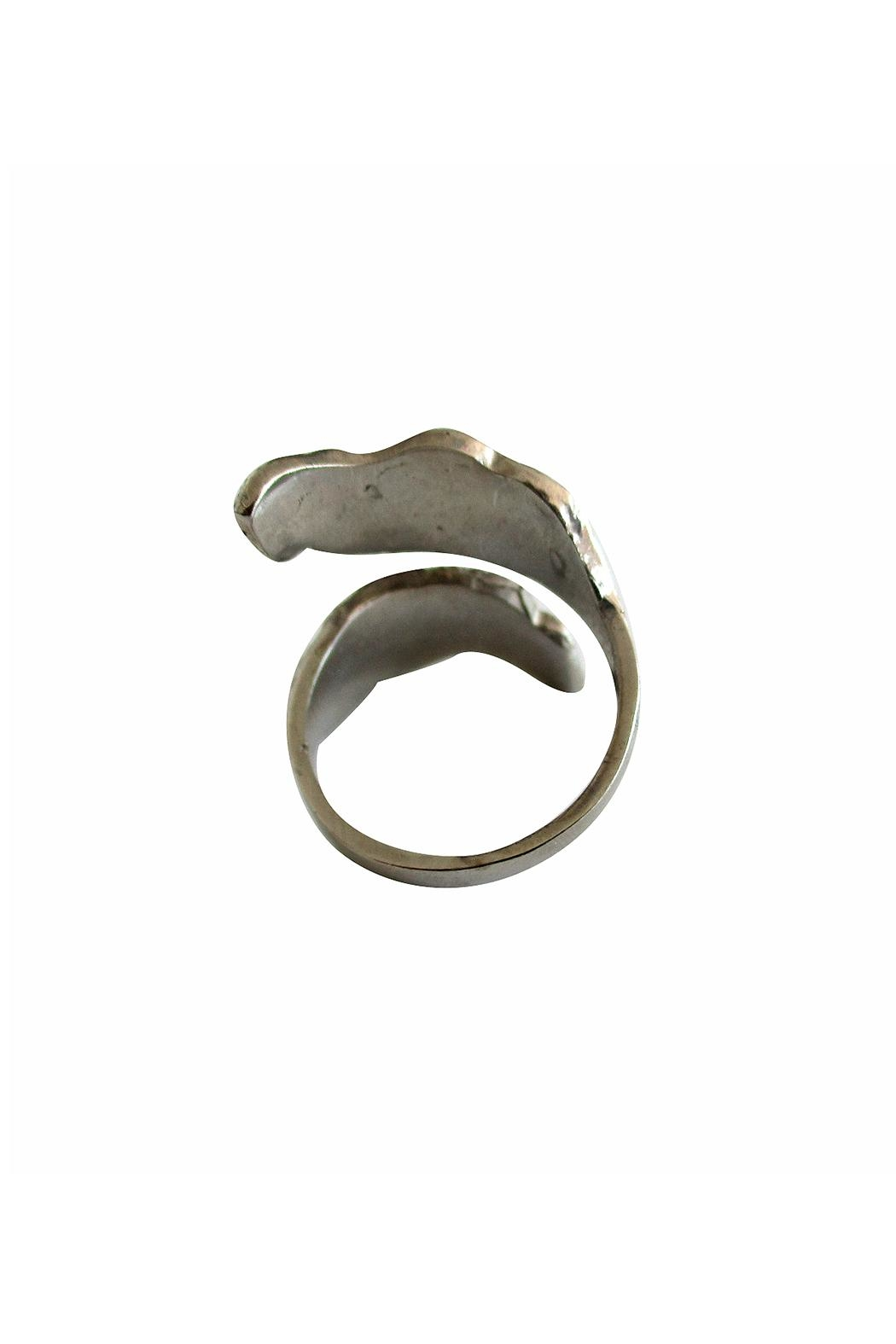 Malia Jewelry Silver Double Leaf Ring - Side Cropped Image