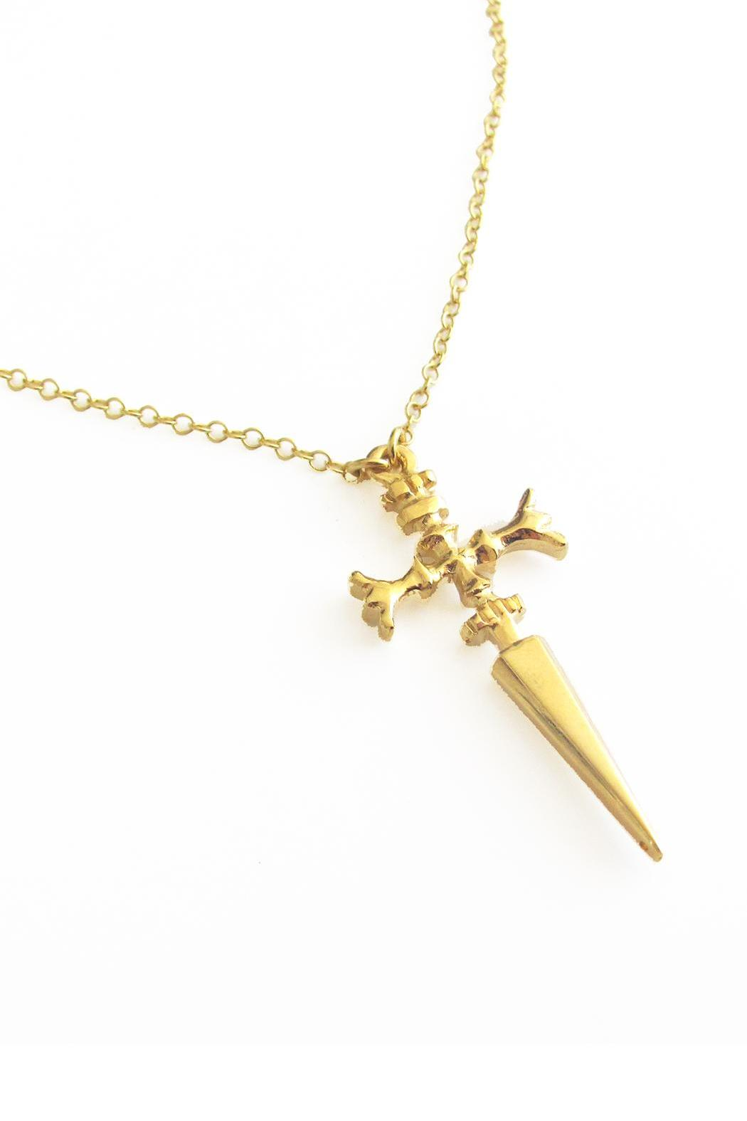 Malia Jewelry Sword Necklace - Side Cropped Image