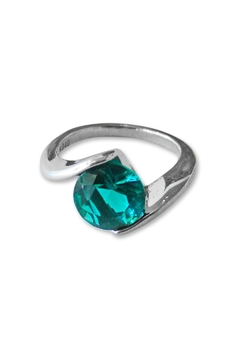 Shoptiques Product: Teal Solitaire Ring