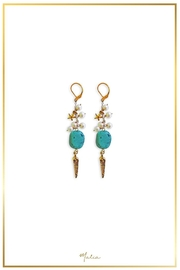 Malia Jewelry Turquoise Pearl Earrings - Front cropped