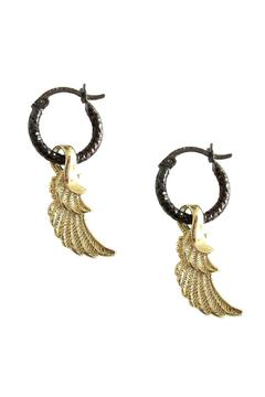 Shoptiques Product: Wing Black Hoops