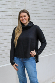 Dylan  Malibu Cowl Neck Back Seam Pullover - Front cropped