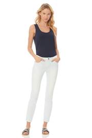 Ecru Malibu Rolled Hem Cropped Jean, Bleach - Product Mini Image