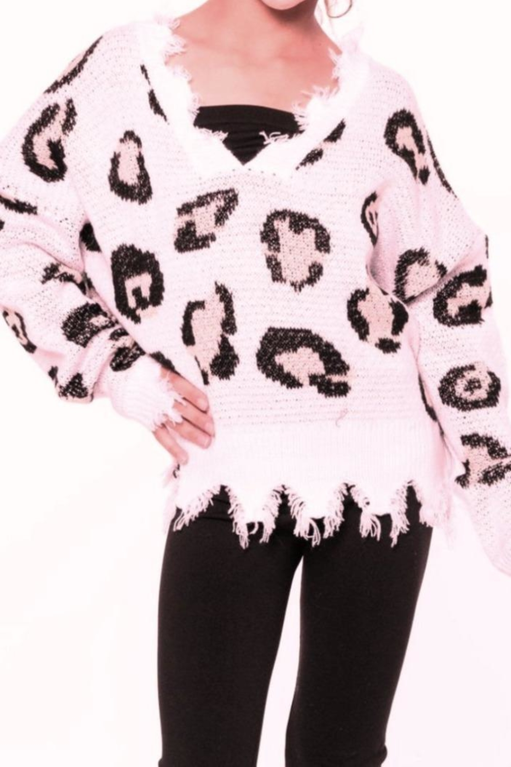 Malibu Sugar Leopard Sweater - Main Image