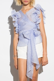 Amanda Uprichard Malin Ruffle Top - Product Mini Image