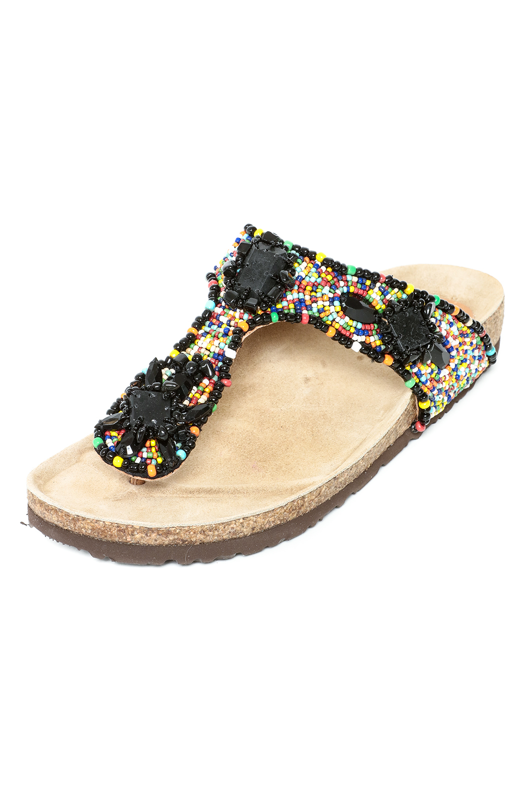 Maliparmi Beaded Thong Sandal - Front Cropped Image
