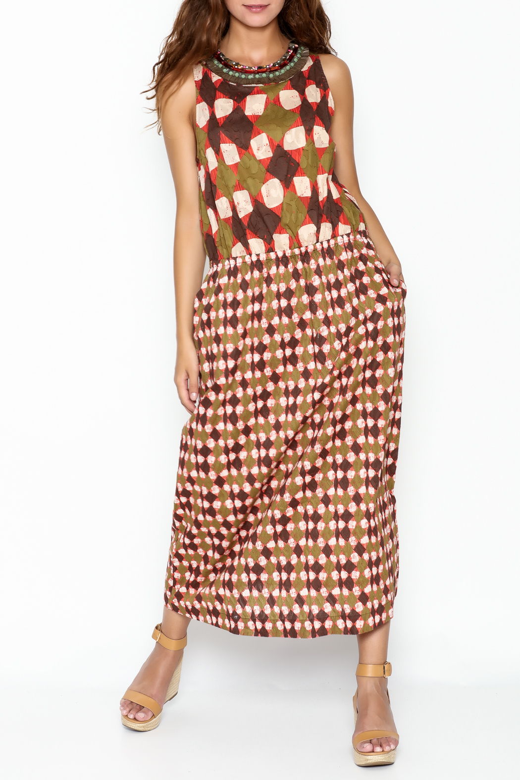 Maliparmi Multi Patterned Maxi Dress - Front Cropped Image